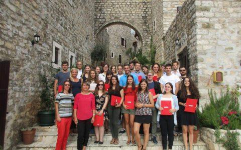 Die AbsolventInnen der Straniak Academy for Democracy and Human Rights im Jahr 2017.